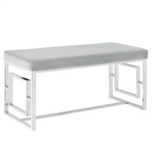 Eros Silver & Grey Bench