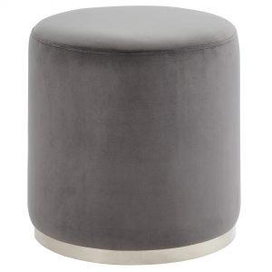 Opus Grey & Silver Ottoman