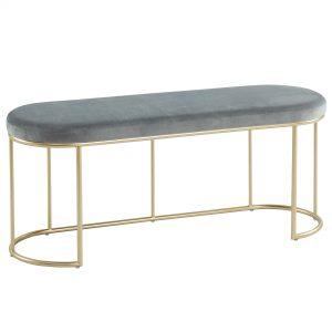 Perla Grey & Gold Bench