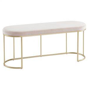 Perla Blush Pink & Gold Bench