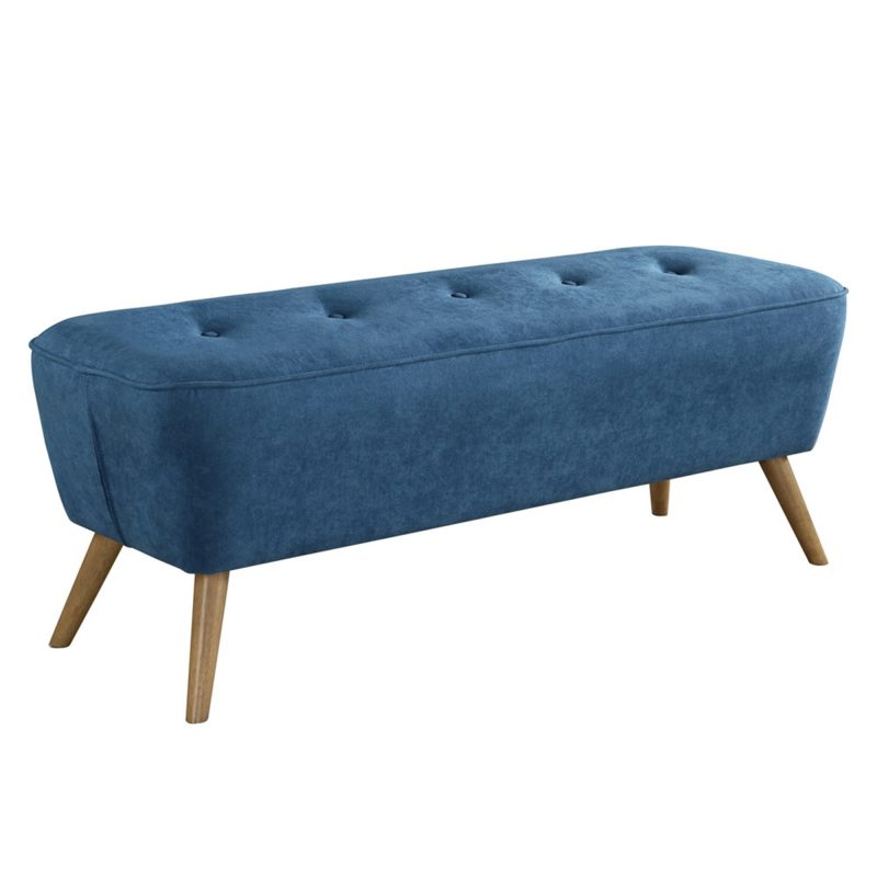 Remy Bench/Ottoman Blue