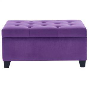 Sally Purple Storage Ottoman